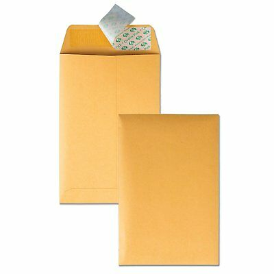 Quality Park 6 x 9 Self Sealing Brown Kraft Catalog Envelopes, 28 lb, for and