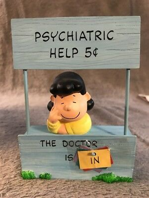 Hallmark Lucy MOOD BOOTH Figurine Peanuts Gallery Numbered ALL Signs QPC4031