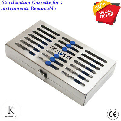 Sterilization Cassette for 7 Instruments Removable Rack tray Hold Surgical Tools