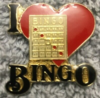 e670bddf6f6 BINGO Casino Gambling Card Heart Game Lapel Hat Tie Scatter Pin Brooch New  #K1