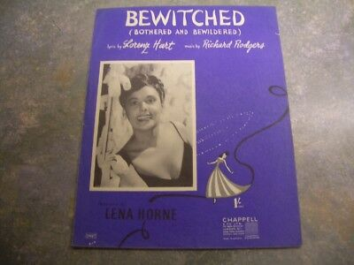 "Vintage sheet music, ""Bewitched"" Lena Horne."