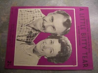 "Vintage sheet music, ""A little bitty tear"", Miki & Grff"