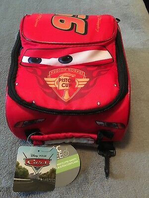 NWT Disney/Pixar Cars Red Lightning McQueen Shaped Soft-Walled Kids Lunch Box