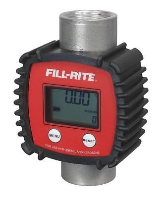 FILL-RITE FR1118A10 In-Line Turbine Meter, 3 to 26gpm, 1in NPT