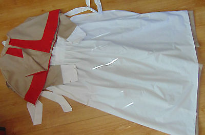 WW1 WW2 VINTAGE NURSE STYLE UNIFORM COSTUME TROPICAL ARMY FIELD NURSE  inspired