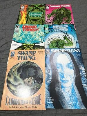 Swamp Thing Lot Of 6 DC Comics 1988 #'s 72-77 Beautiful Condition VF/NM