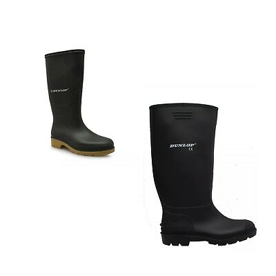 Dunlop Wellies Wellington Rubber Waterproof Rain Boots Outdoor New Men's/Women's