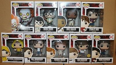 Funko POP IT Pennywise Losers Club Bill Beverly Richie Ben + Free Georgie!!!