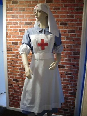 WW2 nurse style costume RED CROSS VAD NURSE complete custom made any size
