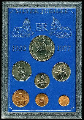 Great Britain 1952 - 1977 Queen Elizabeth II Silver Jubilee 7-Coin Set