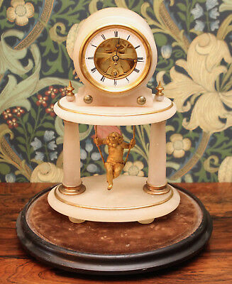 A Stunning Antique c19th Swinging Cherub Clock under Dome, EUGENE FARCOT c1885