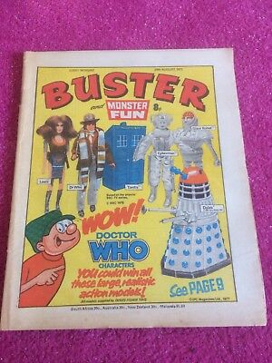 Buster Comic - 1977 - Rare Doctor Who Cover !