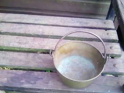 Vintage solid Brass small jam pot