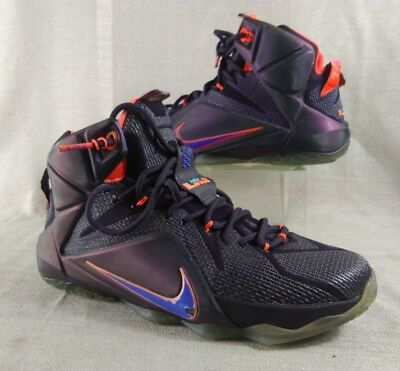 2edf33849afc Size 9.5 Nike LEBRON XII 12 INSTINCT CAVE PURPLE GRAPE BLACK CRIMSON ORANGE