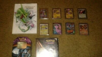 Pokemon Collection (EXs, tin, sleeves, vintage cards, illustration book)