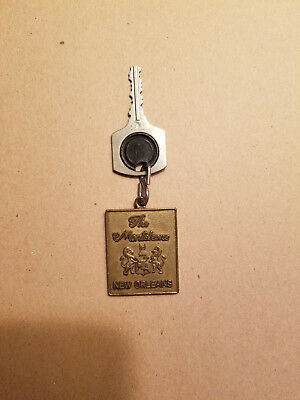 "Vintage Hotel Key for room 855 + Brass FOB for ""The Monteleone"" in New Orleans"