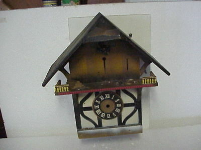 Vintage Empty Woodcutter Musical Chalet Cuckoo Clock Case parts repair A