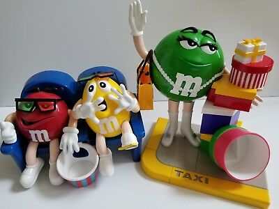 2 M&Ms Candy Dispensers TAXI and AT THE MOVIES