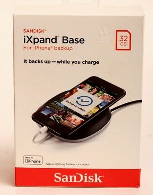 NEW Sandisk IXpand Base for Iphone Backup, 32GB