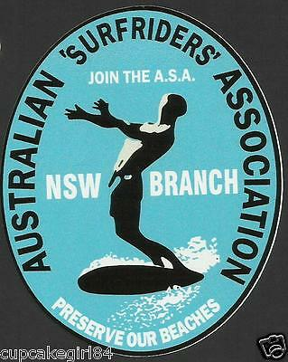 AUSTRALIAN SURFRIDERS NSW ASSOC Sticker Decal Surfboard Longboard Skateboard