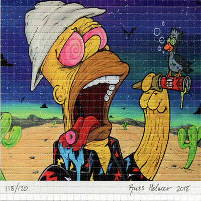 Fear and Doughnuts by OverDosed Signed numbered BLOTTER ART acid free lsd paper