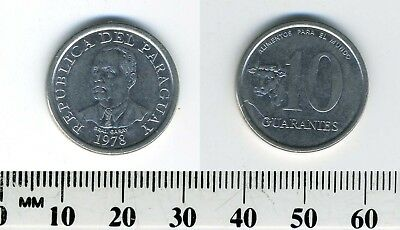 Paraguay 1978 - 10 Guaranies Stainless Steel Coin - Cow head - F.A.O.