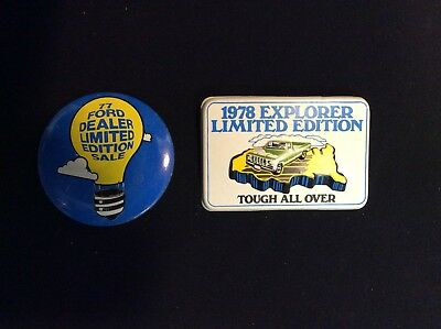 Vintage 1977&1978 Ford Motor Co. Advertising Dealership Promotional Pin Buttons