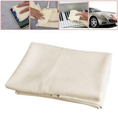 Car Cleaning Natural Chamois Leather Cloth Washing Suede Absorbent NEW UK