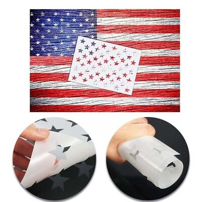"""American Flag 50 Star Stencil Template 10.5*14.82"""" Reusable for Painting on Wood"""
