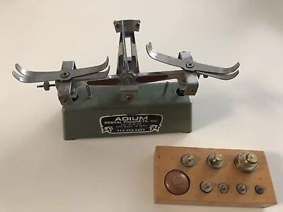 Adium Vintage Dental Lab Scale W/ Weights