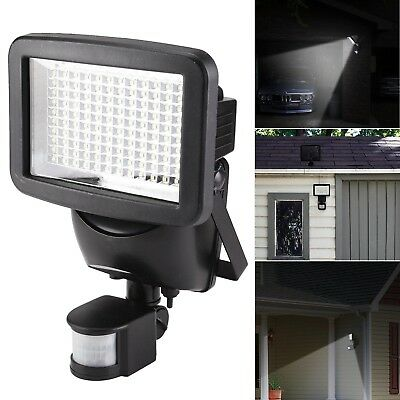 120 LED Solar Powered PIR Motion Sensor Security Spotlight Outdoor Garden Light