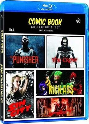Comic Book Collector's Set The Punisher / The Crow / Kick Ass / Sin City / The
