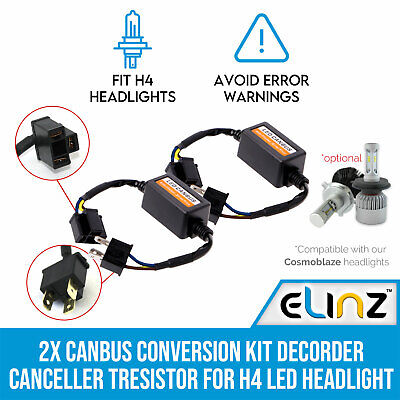 2x Canbus Conversion Kit Decoder Canceller for H4 LED Headlight Cosmoblaze
