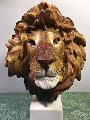 Lion Head Statue  Signed & Numbered 9 1/4'Tall X 6' X 4.5' Nice Piece