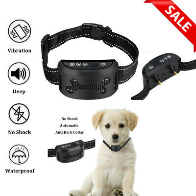 Digital Automatic Waterproof USB Rechargeable Anti No Barking Dog Shock Collar