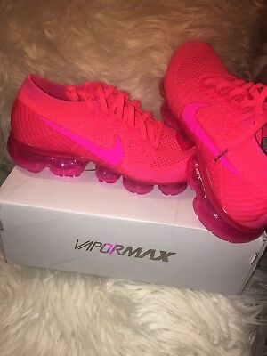 hot sale online 9aea8 895ab NIKE WMNS VAPORMAX Flyknit Hyper Punch Pink Blast Bright Crimson Hot  849557-604