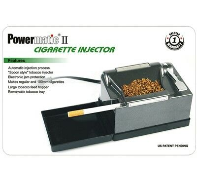 The Best! New Powermatic II 2 Electric Cigarette Injector Rolling Machine USA