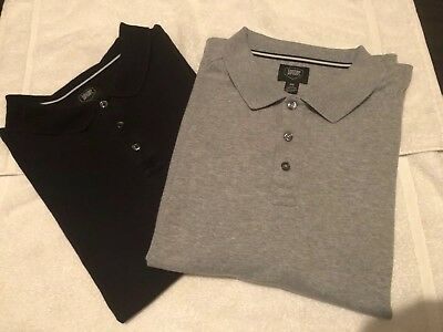 Teenage boys polo style shirts Black & Gray Size 18-20 xxl