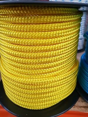 12MM Double Braided Rope Polyester Yacht Rope 27MTS Yellow