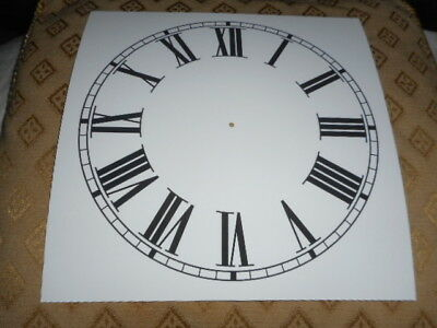 "Square Paper Clock Dial - 8"" M/T - Roman -  White Matt - Face/ Clock Parts"