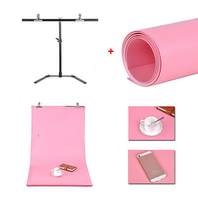 New Photography Small 68*68cm Support Stand+ pink  PVC Backdrop Background