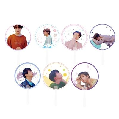 KPOP BTS Bangtan Boys FAKE LOVE Portable Mini Transparent Hand Fan V JIN SUGA