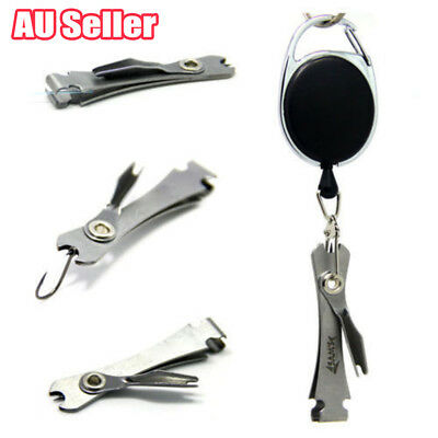 4 in 1 Knot Fly Tool Fishing Clippers Quick Line Nippers Cutter Snip Retractor B