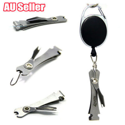 AU Knot Fly Tool Fishing Clippers Quick Line Nippers Cutter Snip Retractor BK