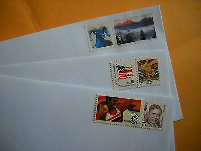 ONE #10 stamped global forever rate $1.15 pull & seal envelope $1.15 face value