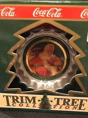 1990 Coca-Cola Trim A Tree Collection Bottle Cap Tree Ornament With Box
