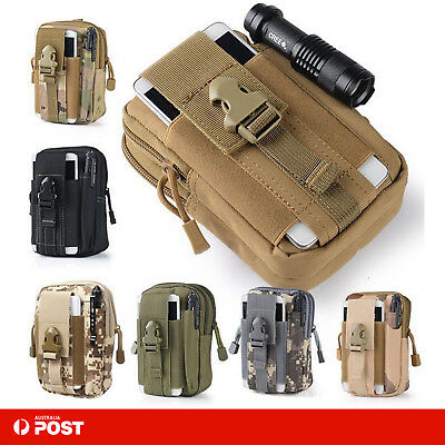 Military Utility Tactical Waist Pack Belt Bag Camping Pouch Tool Phone Wallet