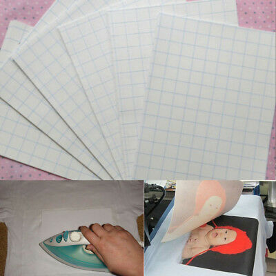5 Sheets A4 Iron On Inkjet Print Heat Transfer Paper For T-Shirt Light Fabric US