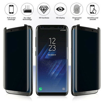 For Samsung Galaxy S9 S8 Note8 Full Glue Tempered Glass Screen Protector LOT BE