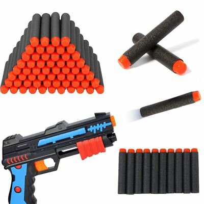 "200pcs 2.8"" Refill Foam Dart for Nerf N-strike Elite Series Blasters Toy Gun BLK"